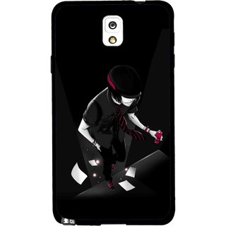 Snooky Printed Hep Boy Mobile Back Cover For Samsung Galaxy Note 3 - Black