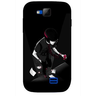 Snooky Printed Hep Boy Mobile Back Cover For Micromax Canvas Fun A63 - Black