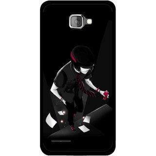 Snooky Printed Hep Boy Mobile Back Cover For Micromax Canvas Mad A94 - Black