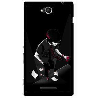 Snooky Printed Hep Boy Mobile Back Cover For Sony Xperia C - Black