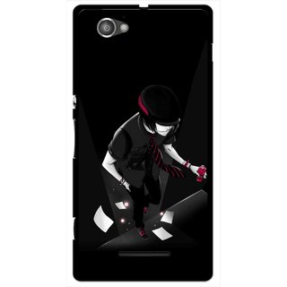 Snooky Printed Hep Boy Mobile Back Cover For Sony Xperia M - Black