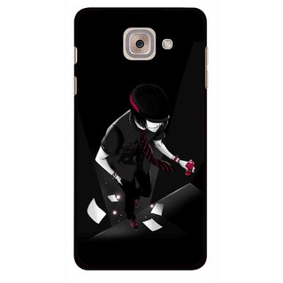 Snooky Printed Hep Boy Mobile Back Cover For Samsung Galaxy J7 Max - Black