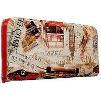 Sn Louis Canvas Red Women Wallet
