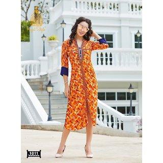 Fashion Studio Kajal Style Long Kurti Size L (40)