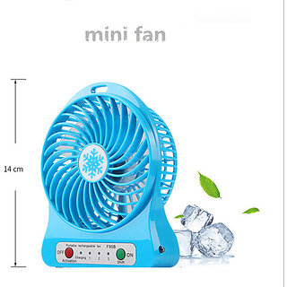 Three Speeds Electric Portable Mini Fan Rechargeable Small Powerful Li-ion Battery Fan Mini USB Fan mix color FanCode30