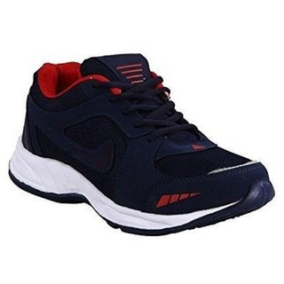 NYN Men's Blue & Red Running Sports Shoes