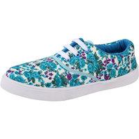 Women's Blue  White Sneakers