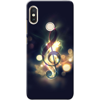 best service f8e97 46a4b special song symbol Design Printed Hard Back Case/Cover For Redmi Note 5 Pro