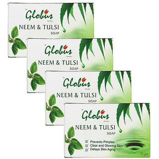 Globus NEEM  TULSI SOAP Pack of 4