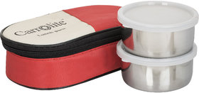 Sellebrity  2 in 1 Red Lunchbox-2 Steel Container