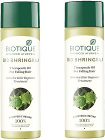 BIOTIQUE BIO BHRINGRAJ THERAPEUTIC OIL INTENSIVE HAIR REGROWTH TREATMENT 120ML ( PACK OF 2 )