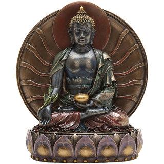 Shivika Enterprises Buddha Polyresin Idol