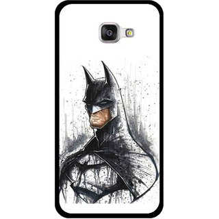 Snooky Printed Angry Batman Mobile Back Cover For Samsung Galaxy A3 (2016) - Multicolour
