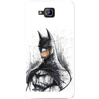 Snooky Printed Angry Batman Mobile Back Cover For Huawei Honor 3C - Multicolour