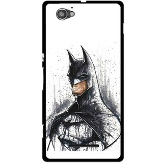 Snooky Printed Angry Batman Mobile Back Cover For Sony Xperia M - Multicolour