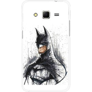 Snooky Printed Angry Batman Mobile Back Cover For Samsung Galaxy Core Prime - Multicolour