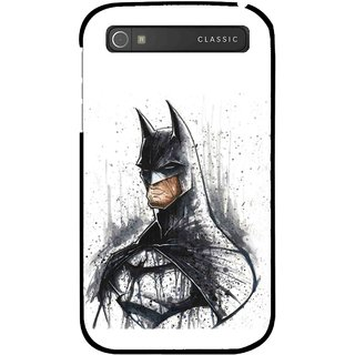 Snooky Printed Angry Batman Mobile Back Cover For Blackberry Classic - Multicolour