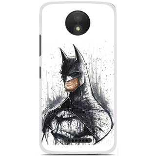 Snooky Printed Angry Batman Mobile Back Cover For Motorola Moto C Plus - Multicolour