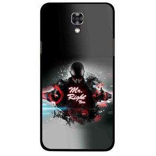 Snooky Printed Mr.Right Mobile Back Cover For Lg X Screen - Multicolour