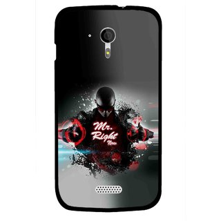 Snooky Printed Mr.Right Mobile Back Cover For Micromax A116 - Multicolour