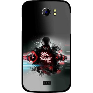 Snooky Printed Mr.Right Mobile Back Cover For Micromax Canvas 2 A110 - Multicolour