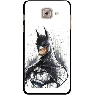 Snooky Printed Angry Batman Mobile Back Cover For Samsung Galaxy J7 Max - Multicolour