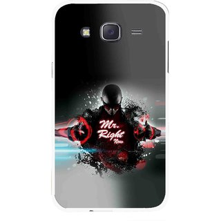 Snooky Printed Mr.Right Mobile Back Cover For Samsung Galaxy J7 - Multicolour
