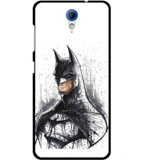 Snooky Printed Angry Batman Mobile Back Cover For HTC Desire 620 - Multicolour