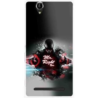Snooky Printed Mr.Right Mobile Back Cover For Sony Xperia T2 Ultra - Multicolour