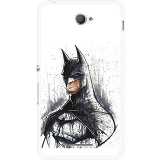 Snooky Printed Angry Batman Mobile Back Cover For Sony Xperia E4 - Multicolour