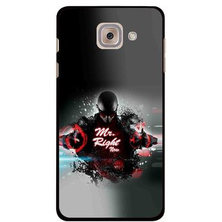 Snooky Printed Mr.Right Mobile Back Cover For Samsung Galaxy J7 Max - Multicolour