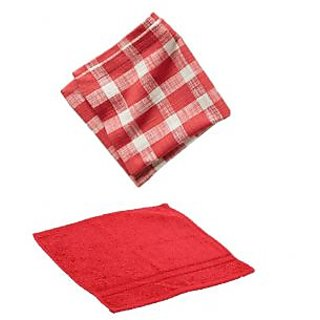 xy decor Pack Of 2 Face Towel 2 Napkin