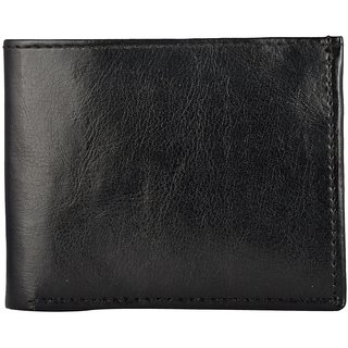 Exotique Mens Black Faux Leather Wallet