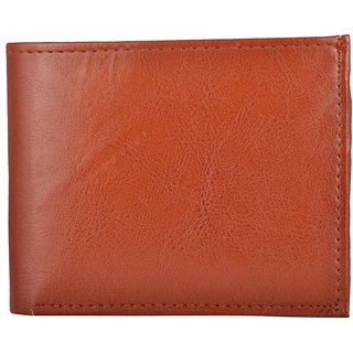 Exotique Mens Tan Faux Leather Wallet