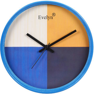 Evelyn Round Wall Clock With Glass For Home / Bedroom / Living Room / Kitchen Evc-082