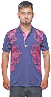 Port Men's Blue Designer T-Shirt