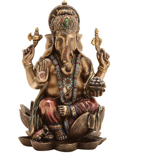 Shivika Enterprises Ganesha Polyresin Idol