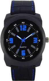 Volga W05-0032 Black Leather Black Dial Sports Leather