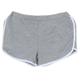Buy DALUCI Women Summer Short Pants Women Sports Shorts Gym Workout  Waistband Skinny Yoga Pants (Grey 0836f1e6ca