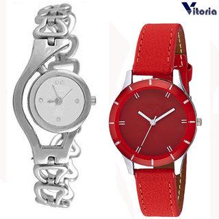 Vitoria Womens Fashionable  Watch Combo (Pack of 2)