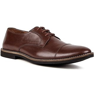 De Scalzo Oxford Lace Up Shoes For Men  (Brown)