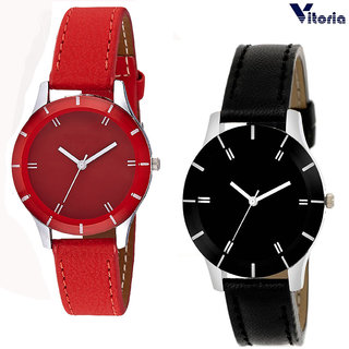 Vitoria Womens Fashionable Step Watch Combo (Pack of 2)