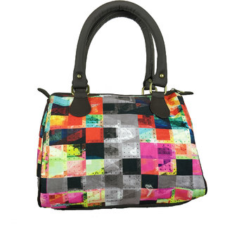 b24126d99d Chelsey Chelsey Multi Abstract Check Speedy Stylish handbags for women and  girls