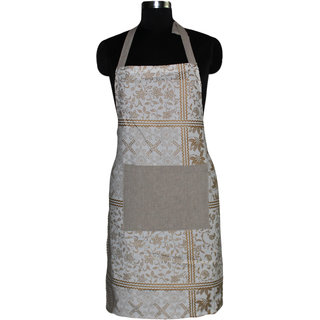 Airwill, 100% Cotton Designer Printed Aprons with Premium Quality with Adjustable Size with the use of Steel Buckle, High Quality Aprons, Wash and Reusable, Use Chef's, Ladies, Gents, Boys, Girls. Cooking Aprons. Size: Free 65x80 cm and 1 Centre Pocket S
