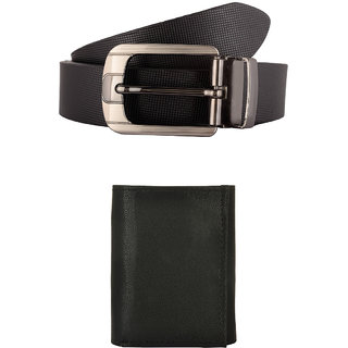 Exotique Mens Black Formal Wallet Combo