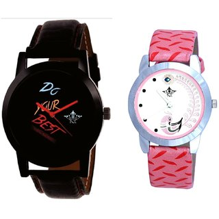 Do Your Best Multi Colour And Pink Peacock Colour Couple Casual Analogue Watch By Google Hub