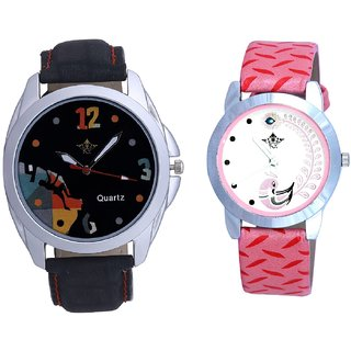 Goal Achived Art And Pink Peacock Colour Couple Casual Analogue Watch By Google Hub