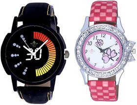 Attractive Race Dial And Pink Flowers Design Couple Cas