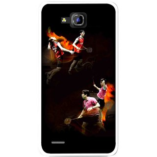 Snooky Printed Sports Player Mobile Back Cover For Huawei Honor 3C - Multicolour