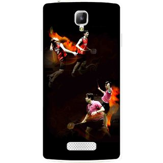 Snooky Printed Sports Player Mobile Back Cover For Oppo Neo 3 R831k - Multicolour